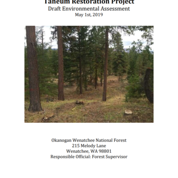 Taneum Restoration Project Draft Environmental Assesment