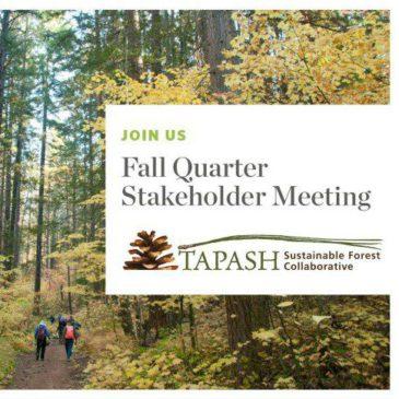 Tapash Quarterly Stakeholder Meeting Dates