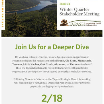 Tapash Winter Quarter Stakeholder Meeting 2/18